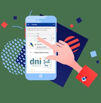 acceso con DNIe en la App Entre Trámites