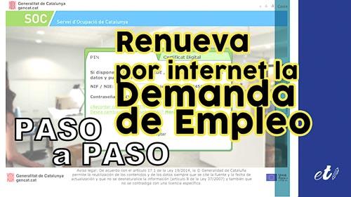Cómo renovar la demanda de empleo (DARDE) por internet